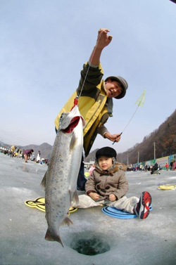 Ice Fishing Festival in South Korea
