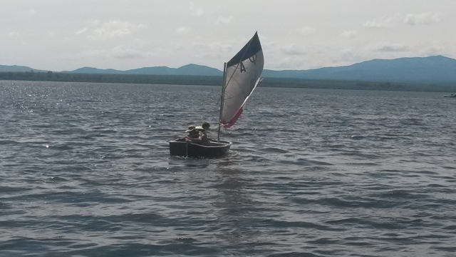 sailing with my optimist