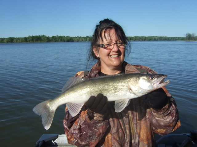 WIFES FIRST WALLEYE THIS YEAR