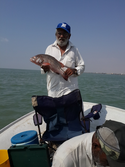 Red Snapper Caught at Miani Hor, Balochistan Province,  Pakistan