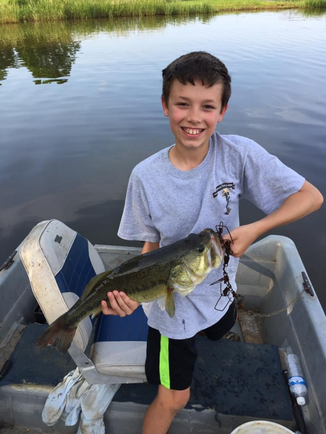 Hudson Martin, age 11, caught April 16, 2017