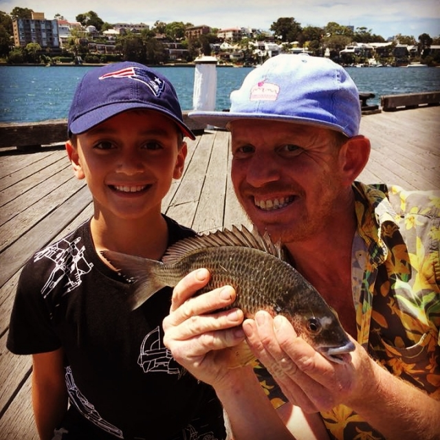 Buy a kid a fishing rod, and he can feed and entertain himself for life!  However this little kid landed a 40cm Bream on his first cast!