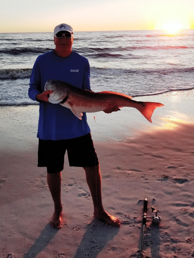 Redfish at Sunset
