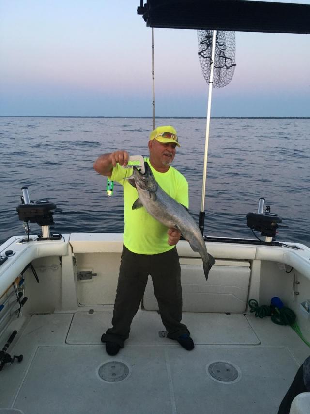 22lb Lake Michigan salmon