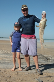 Daddy and Son fishing