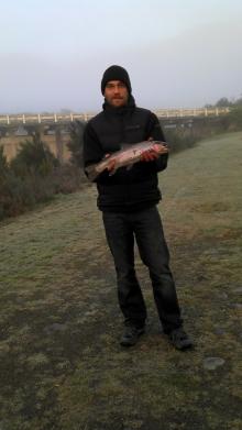 early morning rainbow trout, near Turangi, NZ