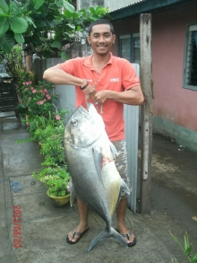 Giant Travelly caught at pier Aparri, Cagayan, Phil