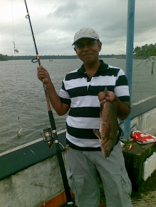 5lb Mangrove Jack from Munampam beach