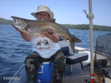 out for lake trout