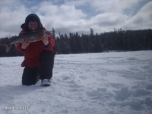 first lake trout catch of the new year