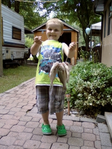 James first time fishing