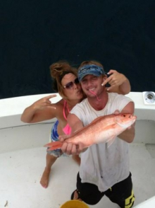 Lisa and her Vermillion Snappers