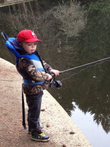 First time taking my Grandson trout  fishing