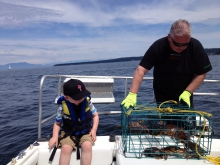 Crabbing with my Grandson