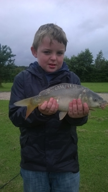 First time fishing with Grandad