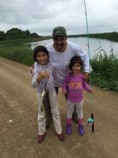 New pink and teal fishing rods for my fishing daughters