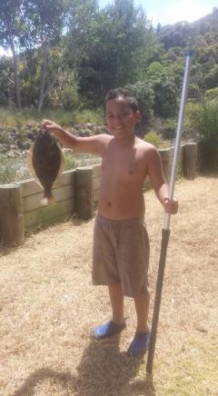 Son's 1st Flounder