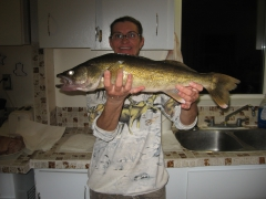 ice fishing  25 inch walleye
