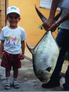 Grandson catch