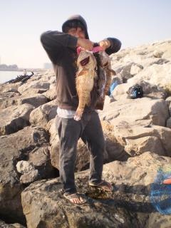 Fishing Update... Today's Catch @ Marina Mall Breakwater