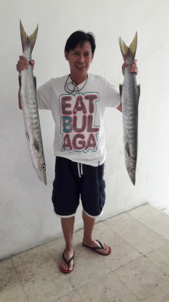 Catch last Friday June 24, 2016 2pcs. 4kg Baracuda