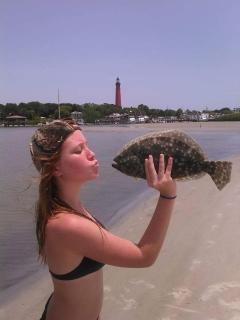 Flounder a little too small, threw him back till next year