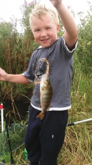 My boy and his catch
