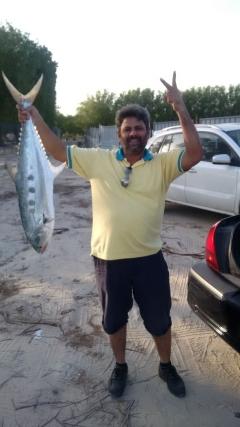 Trevally Fish 9 KG at Jubail Saudi Arabia, Besides Football Stadium