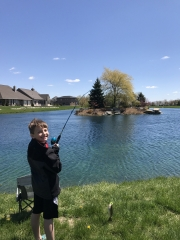 AZ at the pond