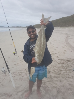 Spot of beach fishing