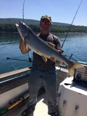 34 inch lake trout! Lake Superior!!