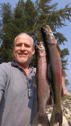Colorful Columbia River Rainbows