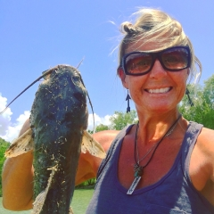 1st catfish I ever caught in my pond