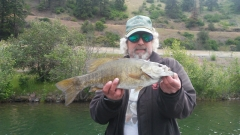 4lb sm mouth bass on Lake Cd'a in Idaho