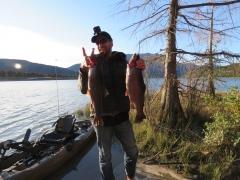 Winter trout fishing - Lake Argyle - South Island, New Zealand